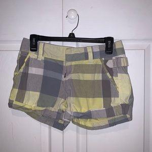 Old Navy Yellow Plaid Shorts